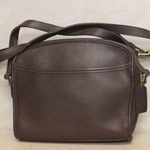 COACH Metropolis Brown Leather Crossbody Bag 9087